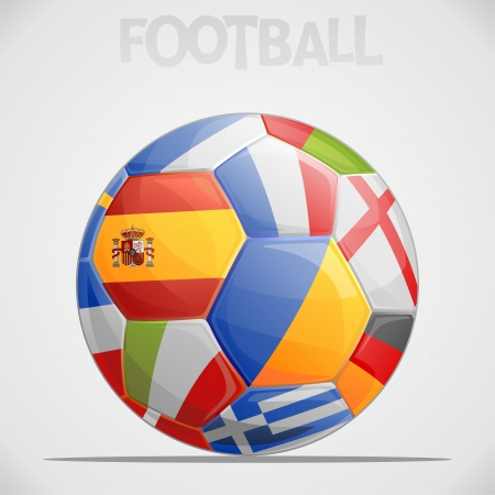 Ball with European flags  Vector