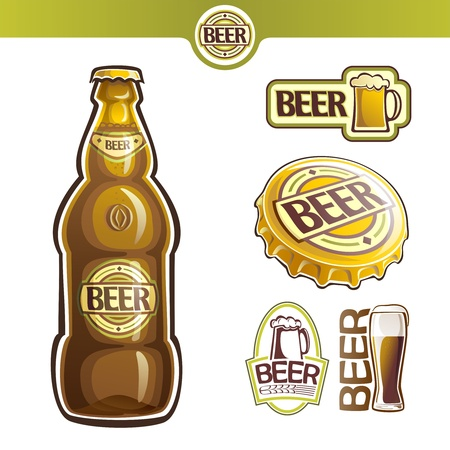 signboard form:  The image on the topic of beer