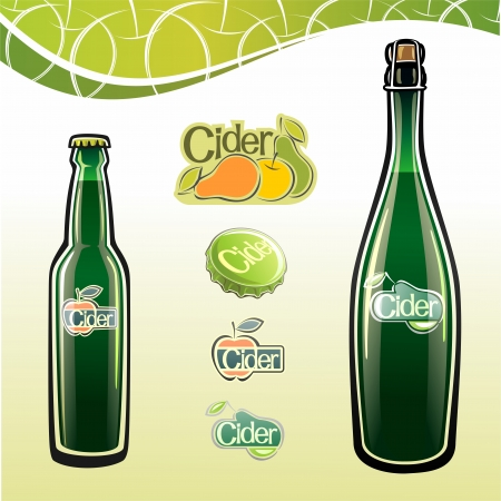 Cider in a bottle Illustration