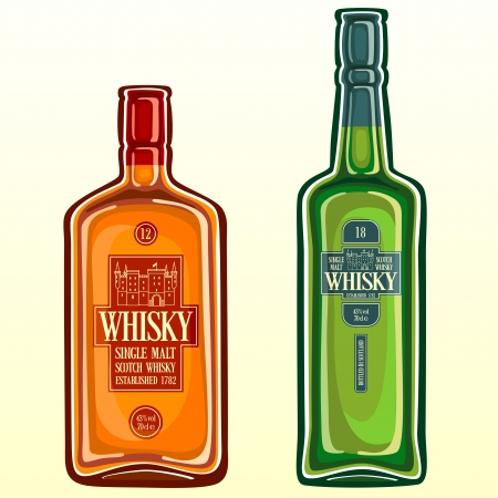 botella de whisky: Whisky escoc�s Vectores