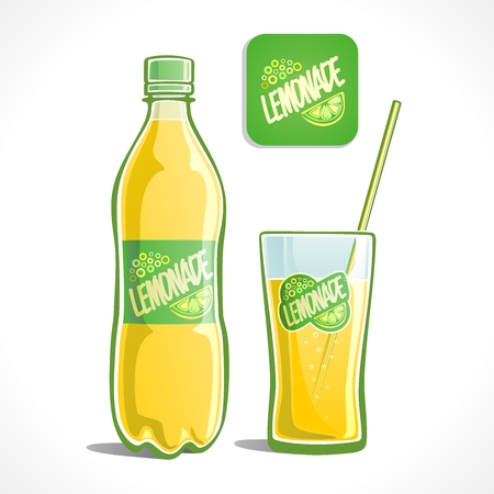 Lemonade in a bottle and glass 免版税图像 - 24504279