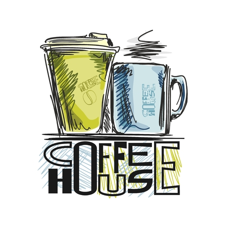 Images on coffee  Stock Illustratie