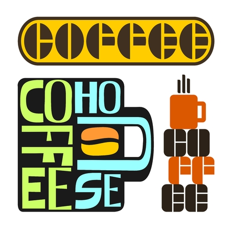 Images on coffee  Vector