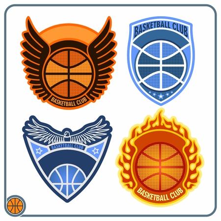 Basketball emblems Vector