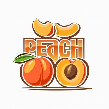 Image of peach  Stock Illustratie