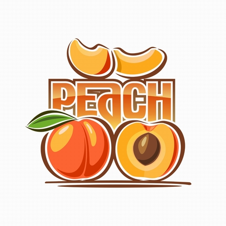 Image of peach  Vectores