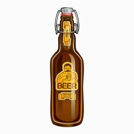 Beer in the bottle 矢量图像