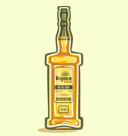 Tequila in the bottle 일러스트