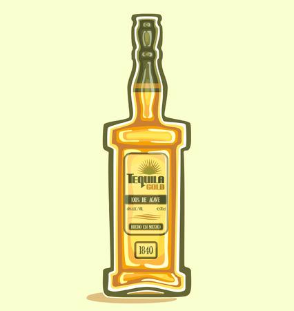 Tequila in the bottle Stock Illustratie