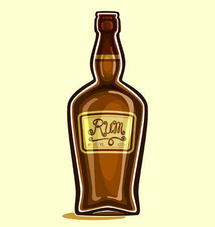 Rum in the bottle Vectores