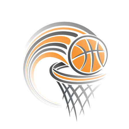 The image of a basketball ball Vettoriali