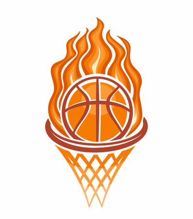 The image of a basketball ball Vector
