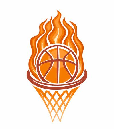 basketball ball: The image of a basketball ball Illustration