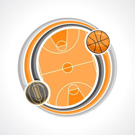Abstract background on the basketball theme Vector
