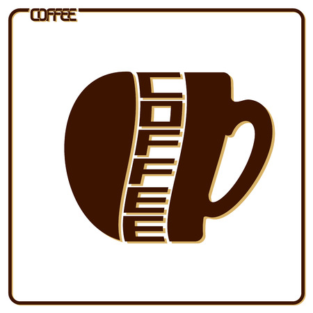 The image on the subject of coffee Vector