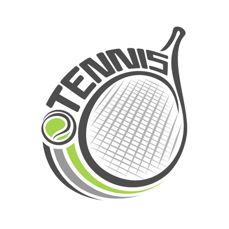 tennis court: The image of a tennis racket