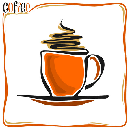 Abstract image of a coffee cup Vector