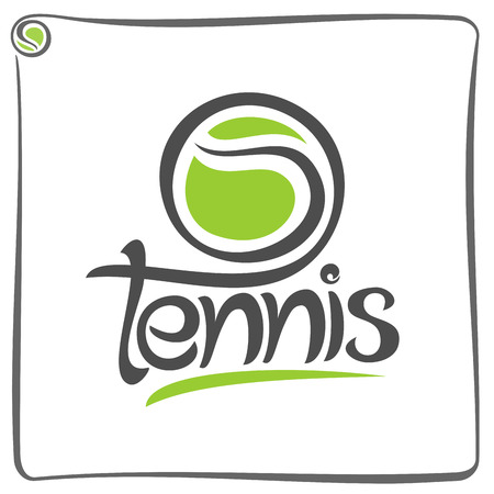 tennis court: The image on the tennis theme