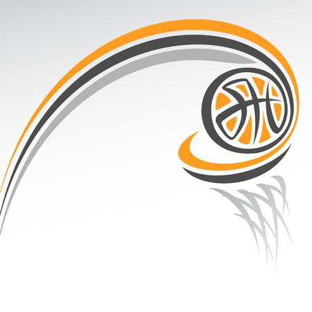 Abstracte achtergrond op het basketbal thema Stock Illustratie