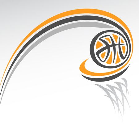 Abstract background on the basketball theme Vettoriali