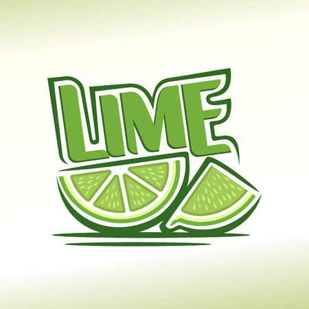 lemon lime: Abstract image of a lime