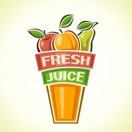 vaso de jugo: Juise Fresh