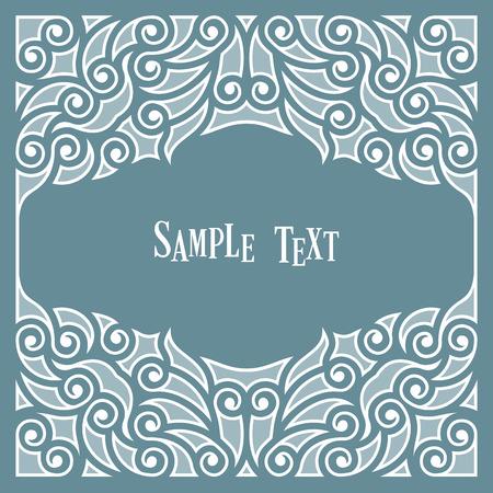 for text: Decorative frame per il testo