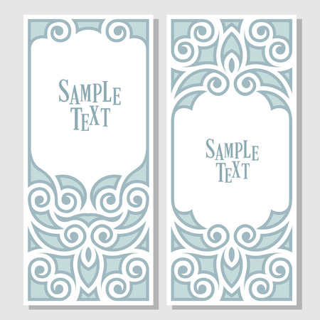 gift background: Decorative frame for text Illustration