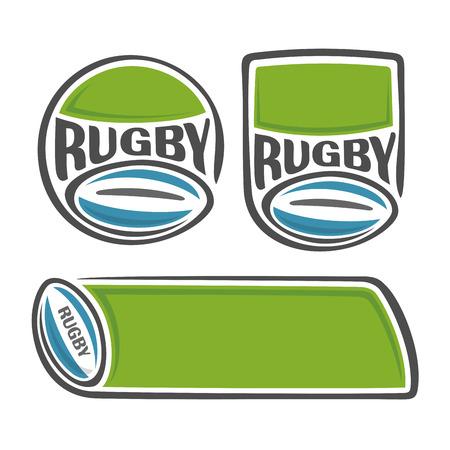 A set of images on the subject of rugby 矢量图像