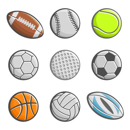 balones deportivos: Un conjunto de im�genes de bolas de los deportes