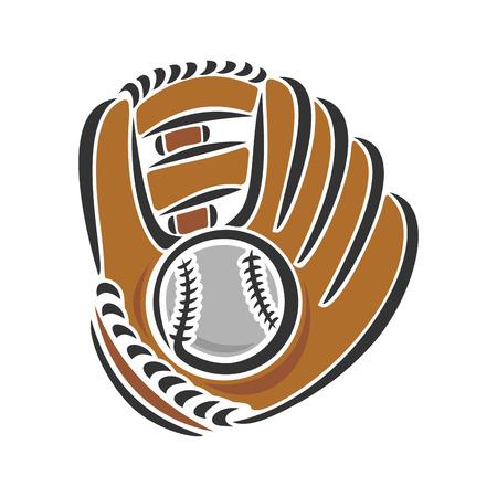 guante de beisbol: guante de b?bol Vectores