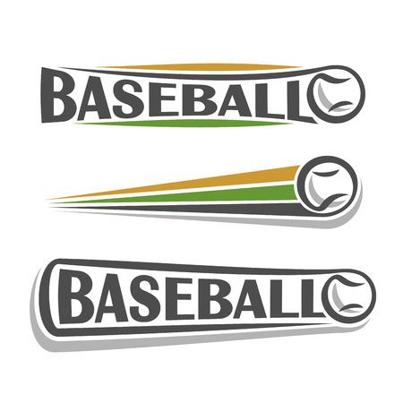 Image on the theme of baseball 矢量图像