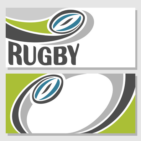 rugby ball: Background images for text on the subject of rugby Illustration