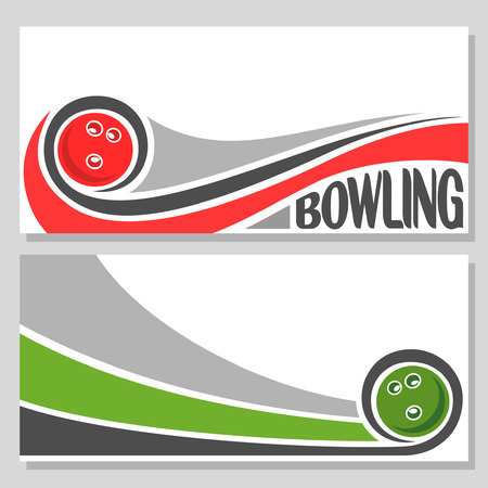 Background images for text on the subject of bowling Vectores