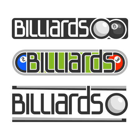 The image on the subject of billiards Vector