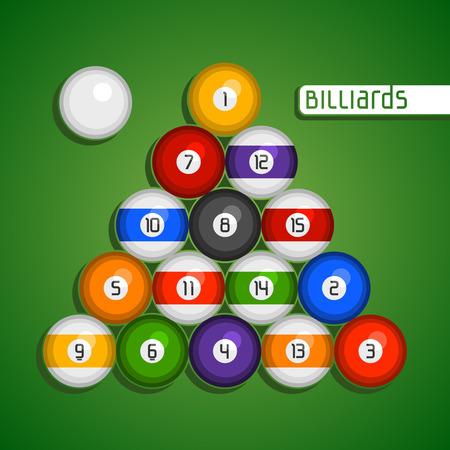 9 ball billiards: Balls for billiards Illustration