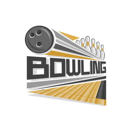 bowling strike: Bowling logo Illustration