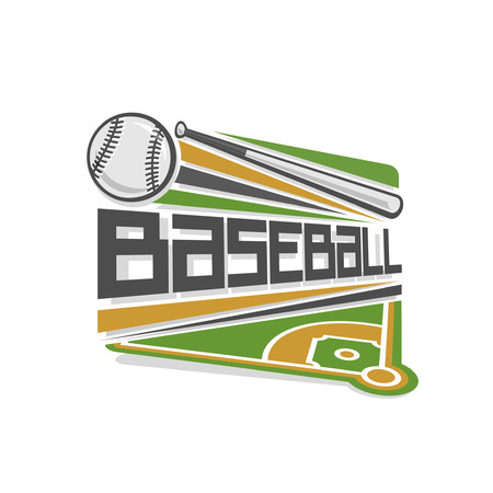 sport background: baseball logo