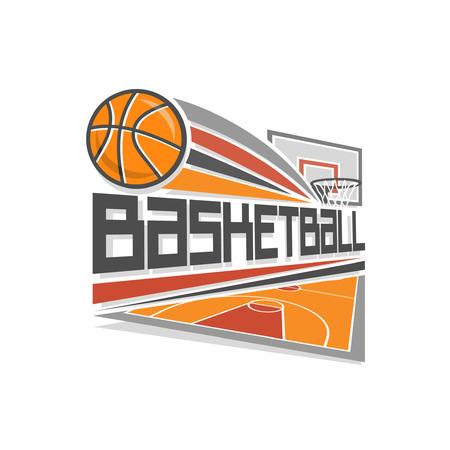 canestro basket: Pallacanestro logo Vettoriali