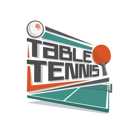 table set: Table tennis logo Illustration
