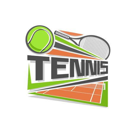summer field: Tennis logo Illustration