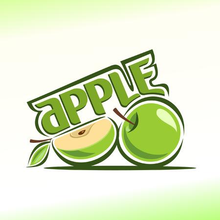 Vector illustration on the theme apple Stock Illustratie