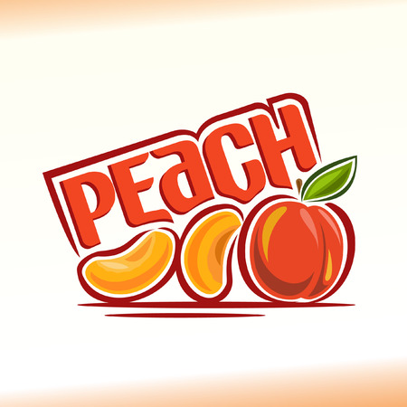 Vector illustration on the theme peach