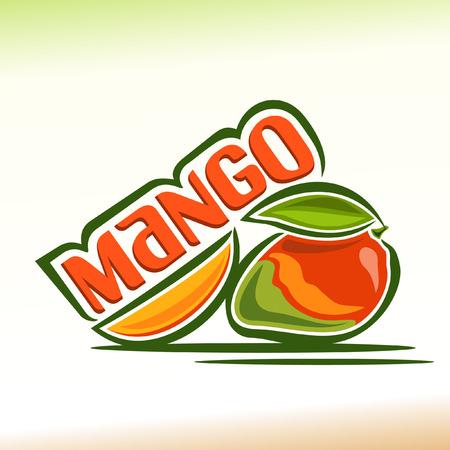mango juice: Vector illustration on the theme of mango