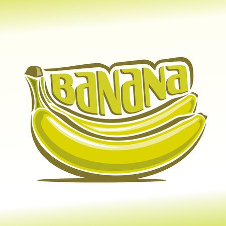 Vector illustratie op het thema van de banaan Stock Illustratie