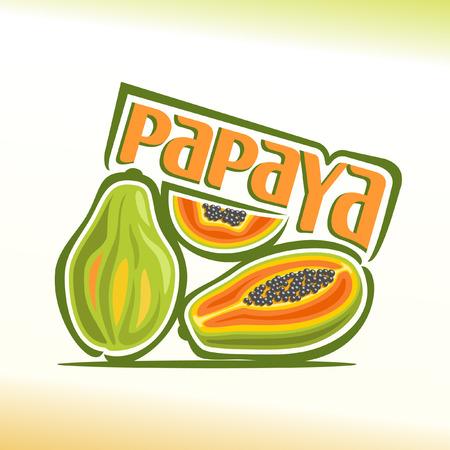 Vector illustration on the theme of papaya