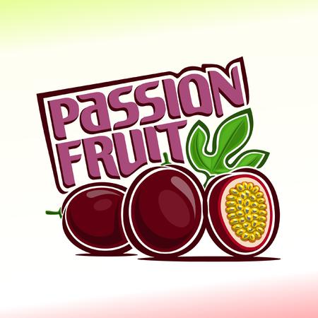 страсть: Векторные иллюстрации на тему маракуйи Иллюстрация