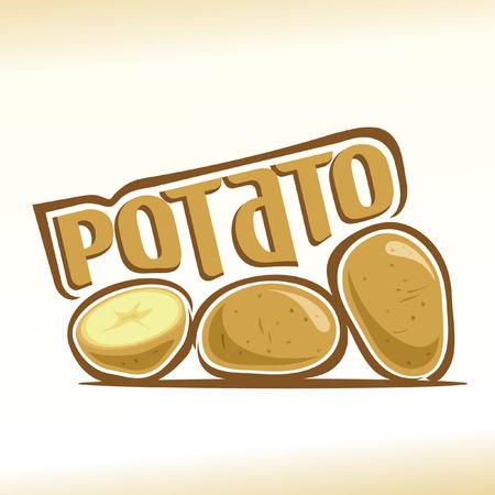 patatas: ilustración en el tema de la papa