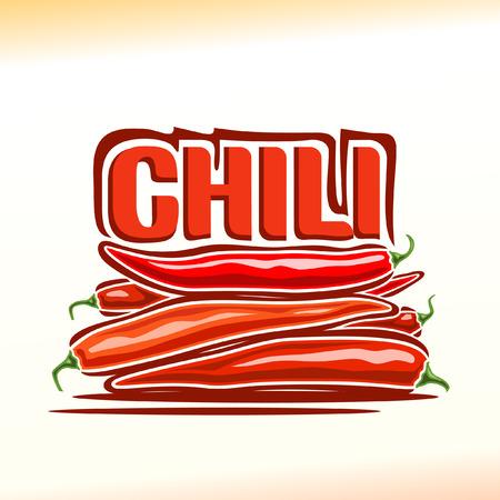 chili: illustration on the theme of chili pepper Illustration