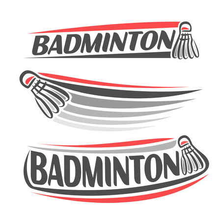 badminton: Abstract images on the badminton theme
